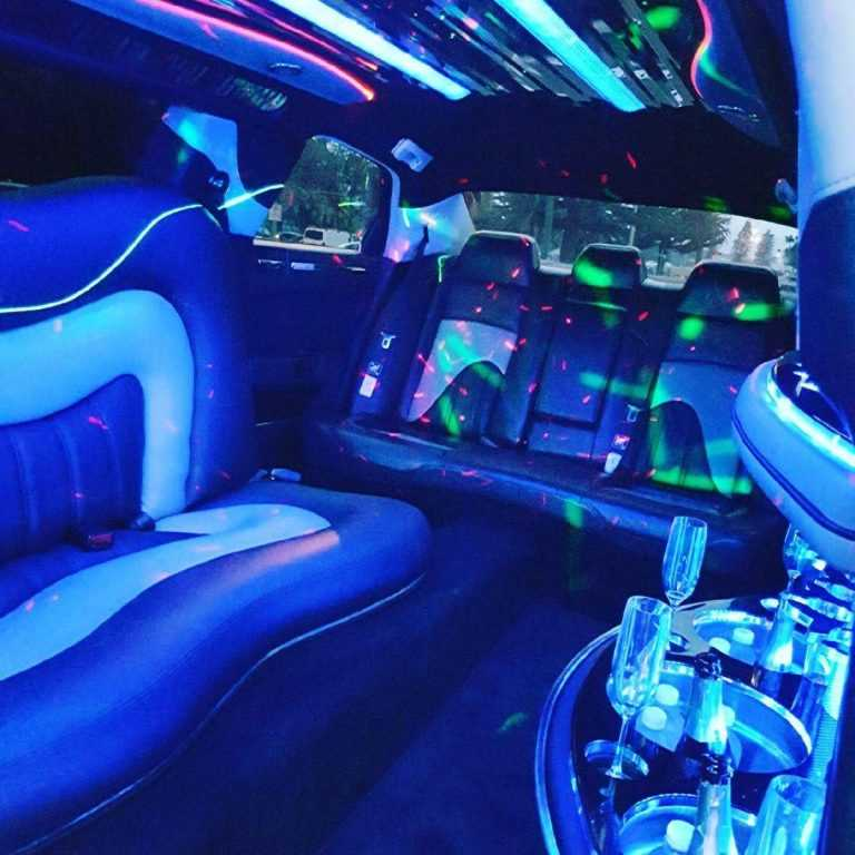 inside the stretch limousine